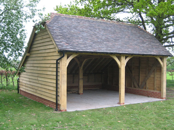 Oak timber garages uk display gun cabinet woodworking for Wooden garage plans